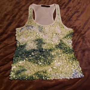 The Limited Sequin Racerback Top Size Small